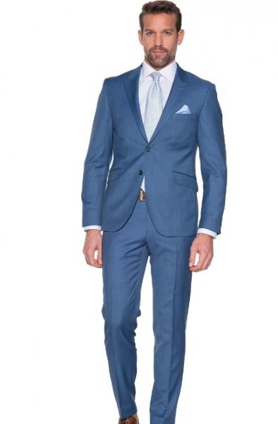 lin blauw-kostuum