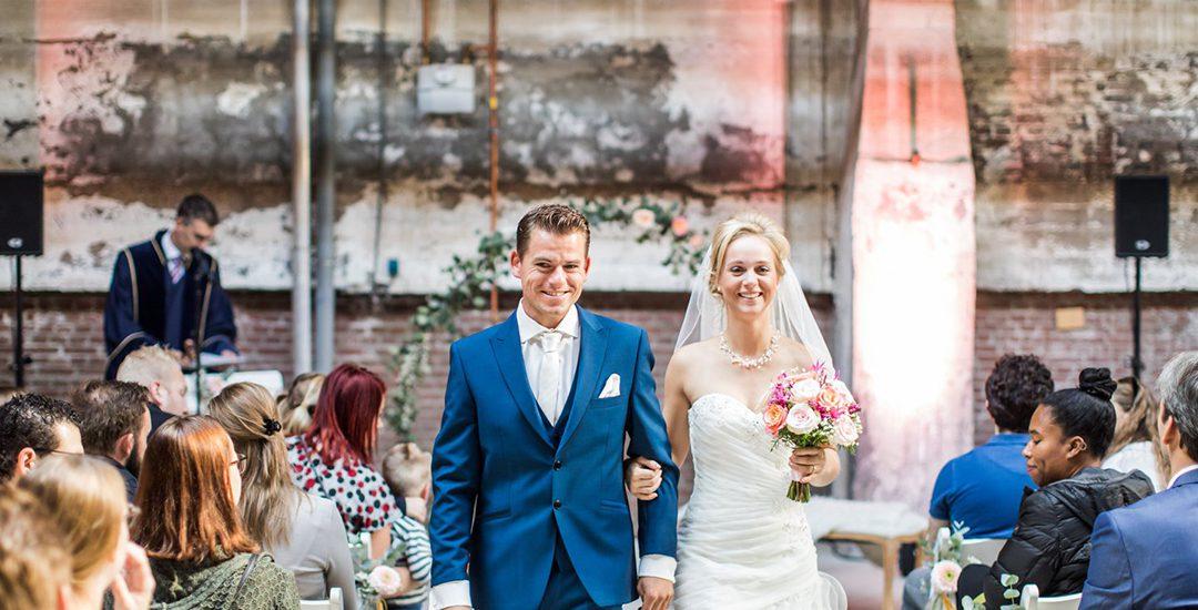 Bekent making winnen bruidsparen van de waardencheque